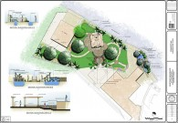 Concept of Residential Master Landscape Plan, Highland, CA.