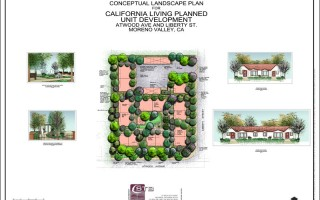 Color rendering of planned development, Moreno Valley, CA.